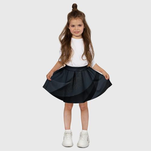 Детская юбка-солнце 3D Волны Фото 01