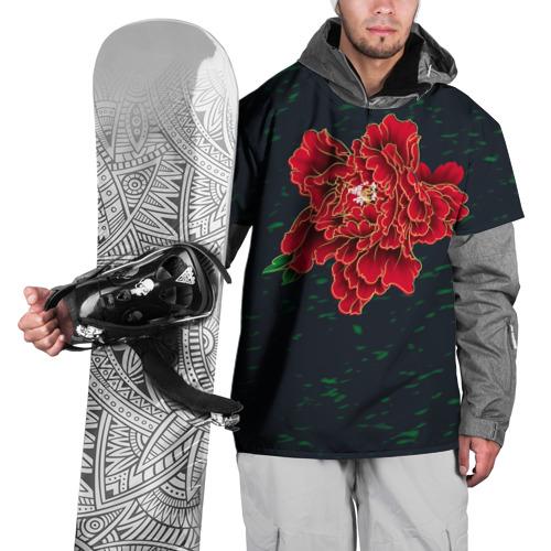 Накидка на куртку 3D Пион Фото 01