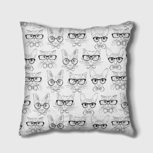 Подушка 3D Кошки в очках Фото 01