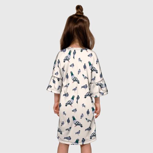 Детское платье 3D Голуби Фото 01