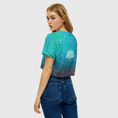 Женская футболка Crop-top 3D Торт АПВ 197ЗГС Фото 01