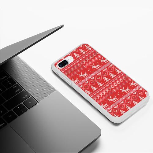 Чехол для iPhone 7Plus/8 Plus матовый Русские народные узоры Фото 01