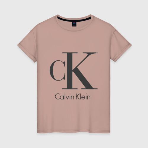 Женская футболка хлопок Calvin Klein Фото 01