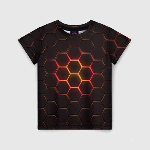 Детская футболка 3D Техно Соты Фото 01
