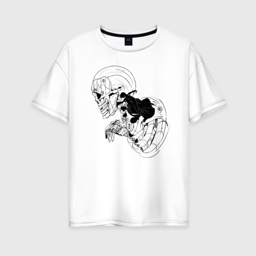 Женская футболка хлопок Oversize Itachi Susanoo (Арт 04) Фото 01