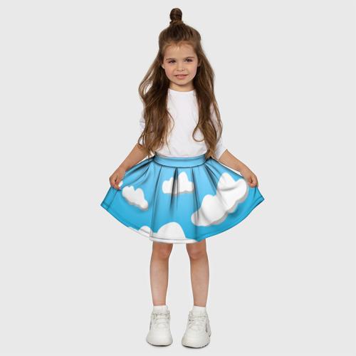 Детская юбка-солнце 3D Небо Фото 01