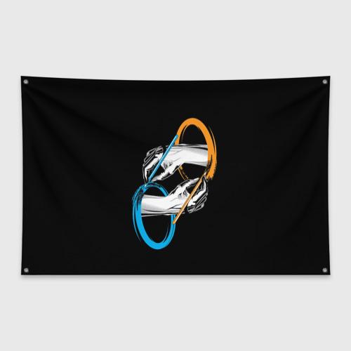 Флаг-баннер PORTAL 2   ПОРТАЛ 2 Фото 01