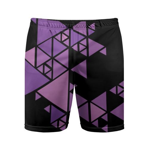 Мужские шорты спортивные Треугольники Фото 01
