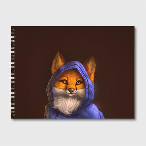Альбом для рисования Лисенок в капюшоне Фото 01