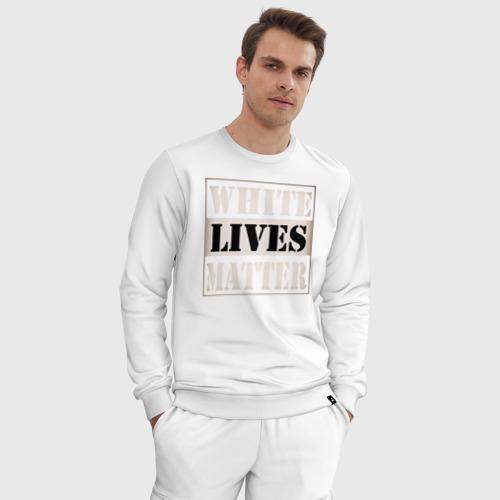 Мужской костюм хлопок White lives matters Фото 01