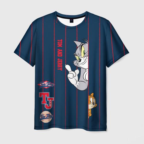 Мужская футболка 3D Tom and Jerry Фото 01