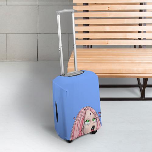 Чехол для чемодана 3D САКУРА АХЕГАО | SAKURA AHEGAO Фото 01