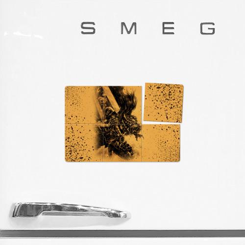 Магнитный плакат 3Х2 Берсерк желтый фон Фото 01