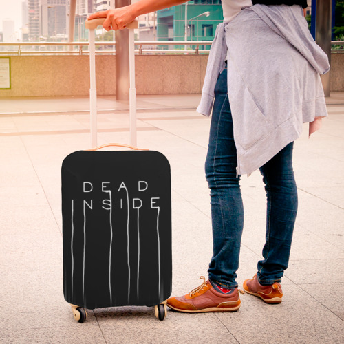 Чехол для чемодана 3D DEAD INSIDE   DEATH STRANDING  Фото 01