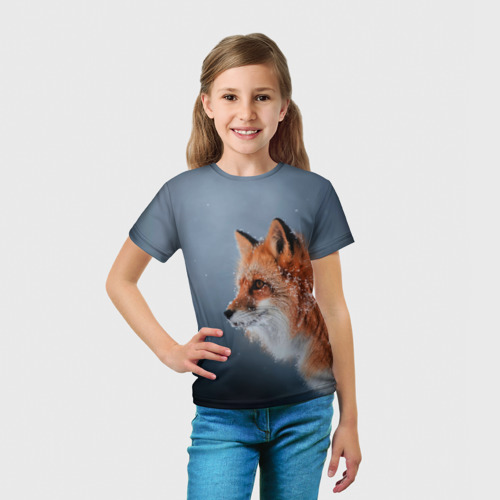 Детская футболка 3D Лиса Фото 01