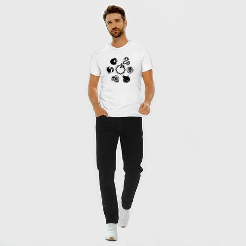Мужская футболка хлопок Slim 7 СМЕРТНЫХ ГРЕХОВ   SEVEN DEADLY SINS (Z) Фото 01