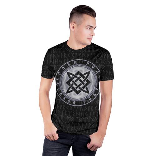 Мужская футболка 3D спортивная ЗВЕЗДА РУСИ - РУНЫ Фото 01
