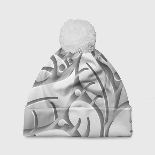 Шапка 3D c помпоном SKULPTOR Фото 01