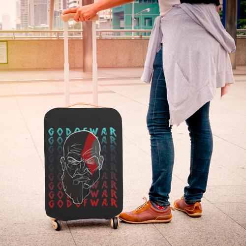 Чехол для чемодана 3D Old God | GOW Фото 01