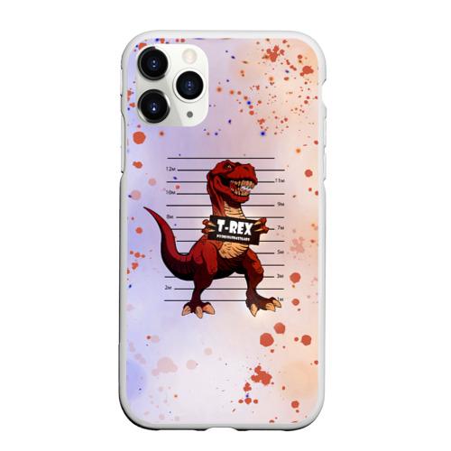Чехол для iPhone 11 Pro Max матовый Динозавр | Преступник (Z) Фото 01