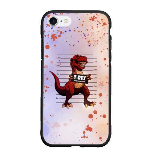 Чехол для iPhone 7/8 матовый Динозавр   Преступник (Z) Фото 01