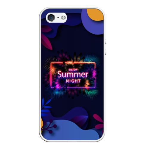 Чехол для iPhone 5/5S матовый Летняя тропическая ночь Фото 01