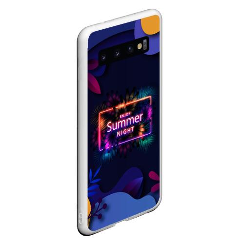 Чехол для Samsung Galaxy S10 Летняя тропическая ночь Фото 01