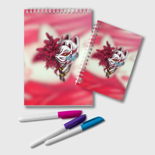 Блокнот Японская маска лисы Фото 01