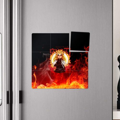 Магнитный плакат 3Х3 Огненный Столп Kimetsu no Yaiba Фото 01