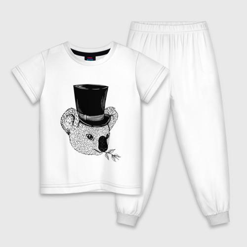 Детская пижама хлопок Коала Джентльмен в Цилиндре Фото 01
