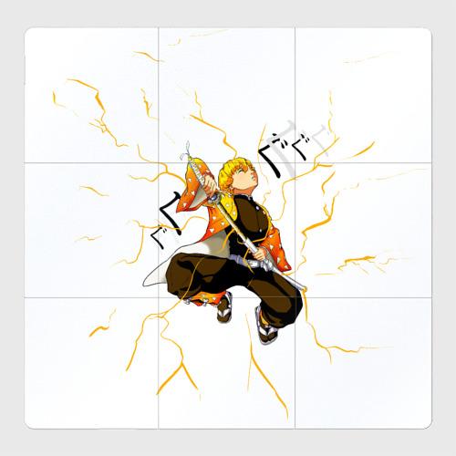 Магнитный плакат 3Х3 Agatsuma Zenitsu Kimetsu no Yaiba Фото 01