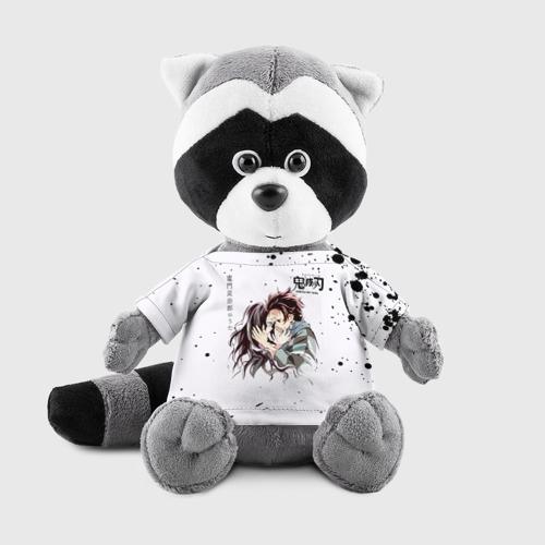 Игрушка Енотик в футболке 3D Танджиро и Незуко Камадо Фото 01