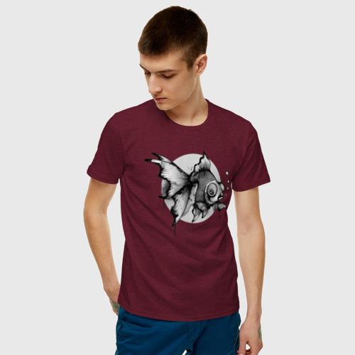 Мужская футболка хлопок Рыбка Фото 01