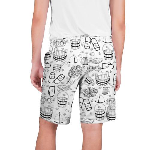 Мужские шорты 3D Банный фон Фото 01