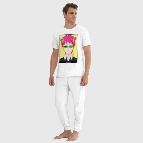 Мужская пижама хлопок Сайки портрет на желтом Фото 01