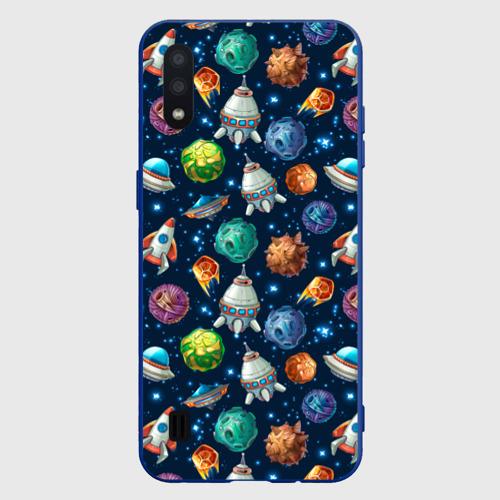 Чехол для Samsung A01 Мультяшные планеты Фото 01