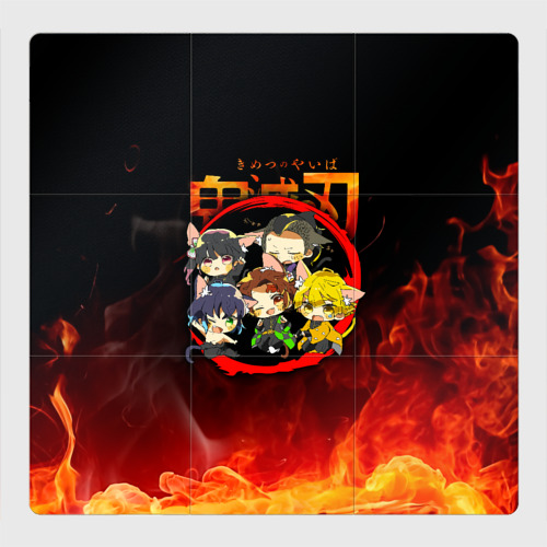 Магнитный плакат 3Х3 Клинок, рассекающий демонов Персонажи Фото 01