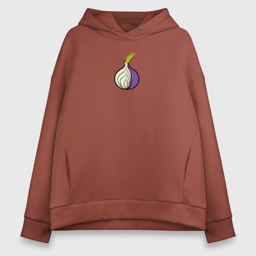 Женское худи Oversize хлопок Tor Browser Фото 01