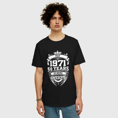 Мужская футболка хлопок Oversize May 1971 50 Years Фото 01