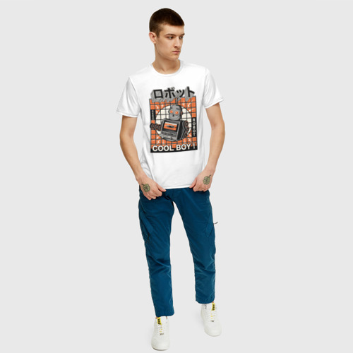 Мужская футболка хлопок Ретро робот cool boy Фото 01