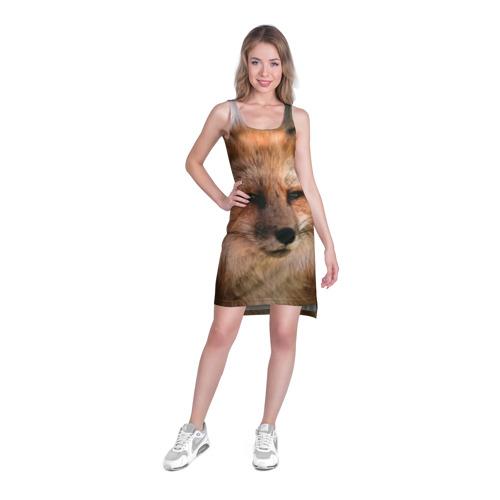 Платье-майка 3D Строгая лисица Фото 01