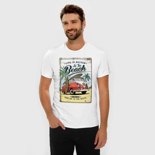 Мужская футболка хлопок Slim морской трип Фото 01