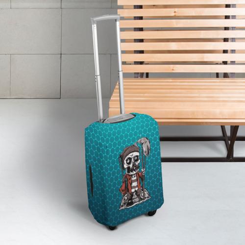 Чехол для чемодана 3D Рыбак Фото 01