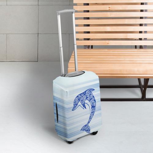 Чехол для чемодана 3D Дельфин Фото 01