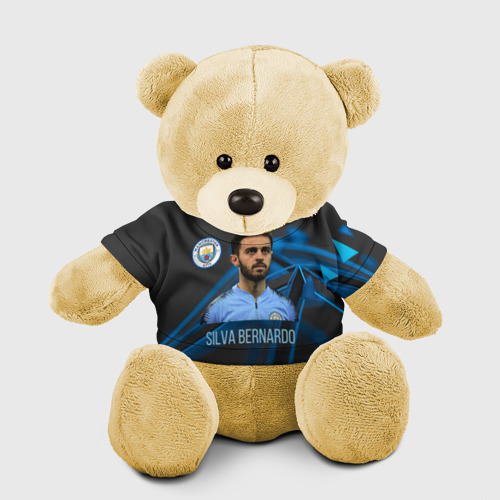 Игрушка Мишка в футболке 3D Silva Bernardo Манчестер Сити Фото 01