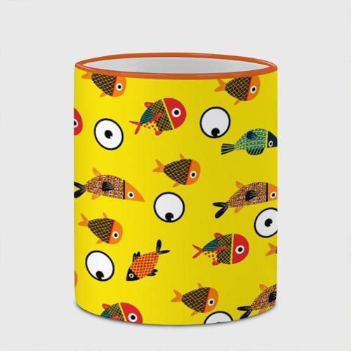 Кружка с полной запечаткой Рыбки на жёлтом Фото 01