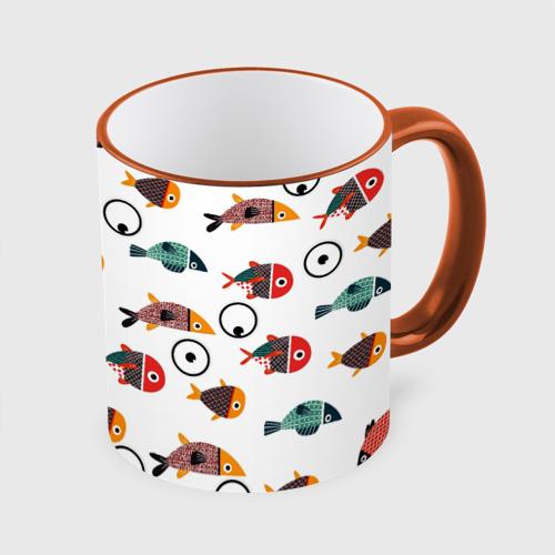 Кружка с полной запечаткой Цветные рыбки Фото 01