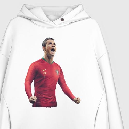 Женское худи Oversize хлопок Cristiano Ronaldo Фото 01