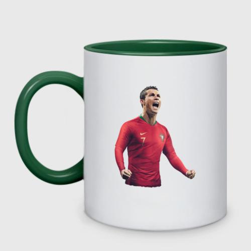 Кружка двухцветная Cristiano Ronaldo Фото 01