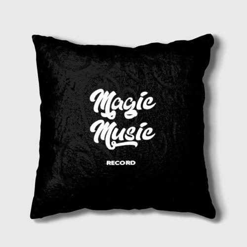 Подушка 3D Magic Music Record | White on Black Фото 01